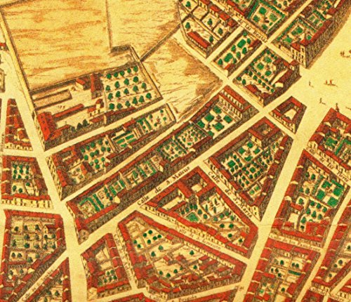 Home Comforts Peel-n-Stick Poster of Map of Calle de San Mateo, Plano de Madrid de Texeira partearriba003 (Cropped) Poster 24X16 Adhesive Sticker Poster Print ()
