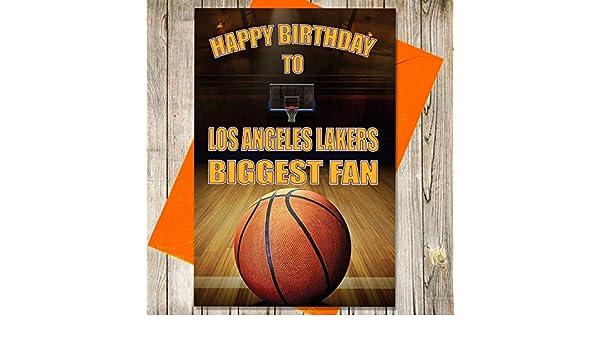 Baloncesto Tarjeta de cumpleaños - los Angeles Lakers ...