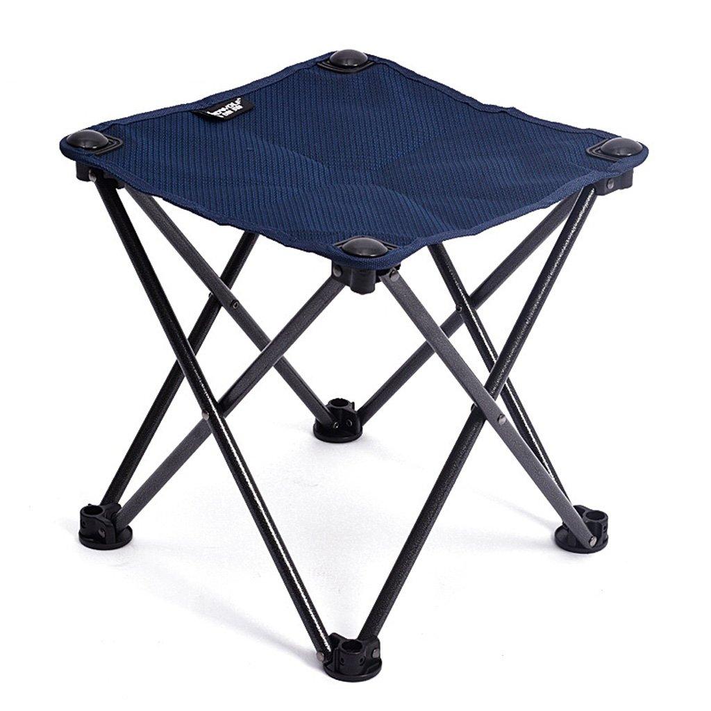 Homelx Ultra leichte tragbare Klappstuhl Outdoor Klappstuhl Angeln Camping Skizzieren Stuhl blau