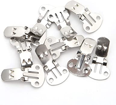 20 pcs Shoe Clip Buckle Blank Stainless Steel Shoe Clips Clip DIY Craft Buckles Useful