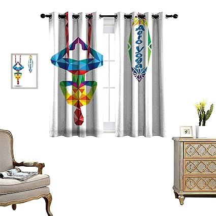 Amazon.com: Luckyee Yoga Blackout Window Curtain Aerial Aero ...