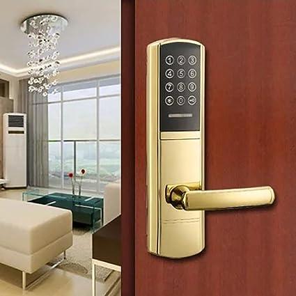 TDJDYQ Aleación de zinc Apartamento La vivienda de alquiler Hotel contraseña Tarjeta Mifare Llave mecánica inteligente