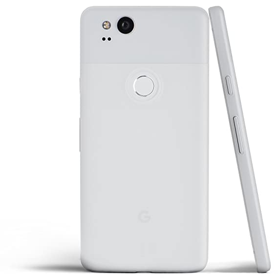 newest collection db808 bf9ad totallee Pixel 2 Case, Thinnest Cover Premium Ultra Thin Light Slim Minimal  Anti-Scratch Protective - for Google Pixel 2 (Frosted White)