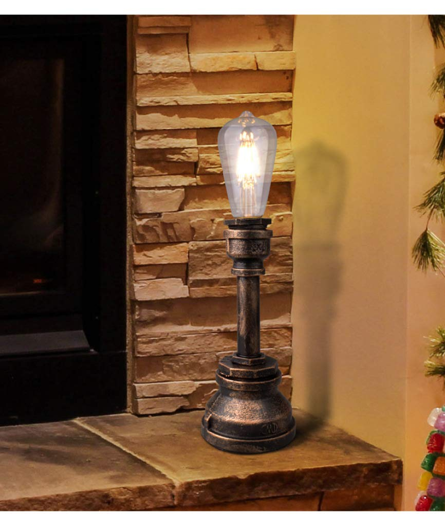 CLLCR Lámpara de Mesa, Luces Industriales Retro Rústicas ...