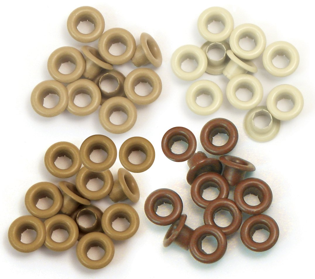 Eyelets Standard 60/Pkg-Brown We R Memory Keepers WER-ES-41581