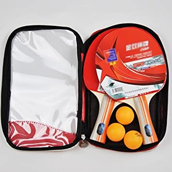 Profesional Tenis De Mesa Paleta Avanzado Entrenamiento Ping Pong Raqueta Con Estuche, Palas Con Mango Largo ...