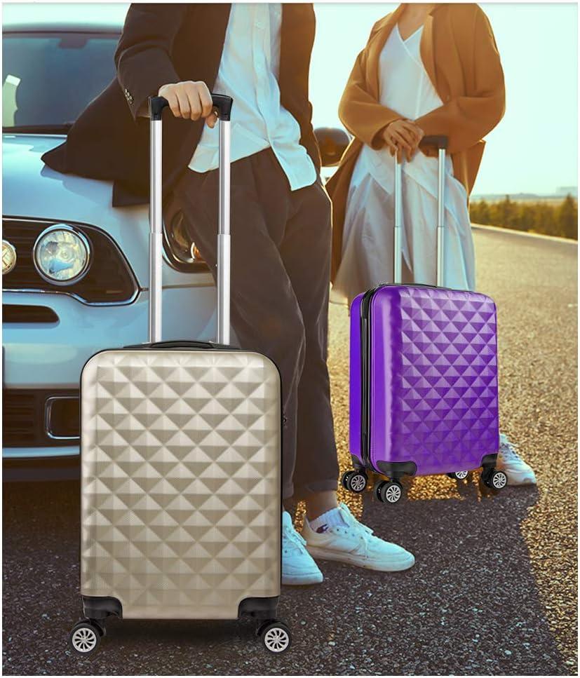 Easyjet Lufthansa Gris Approuv/ées pour Ryanair ABS Bagage Cabine Bagage /à Main Valise Rigide L/égere /à 4 roulettes Air France