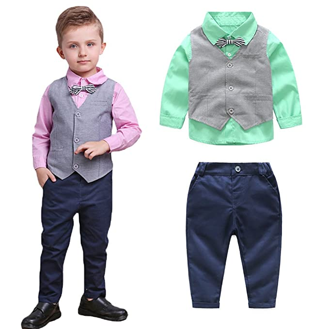 Amazon.com: TEM Doger niños conjuntos de ropa chaleco ...
