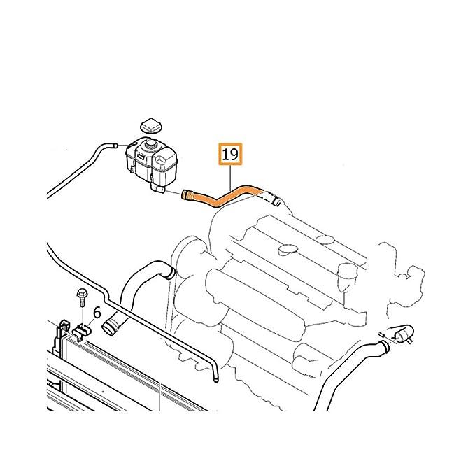 Volvo 30680923 Engine Coolant Recovery Tank Hose Amazon Co Uk Car