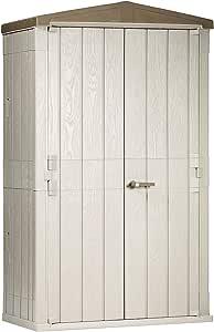 Plastic Sheds & Outdoor Storage Lockable Outdoor Garden Plastic Vertical Storage Shed Cabinet, 76 cu ft.