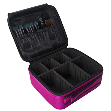 057f24068 Lukovee Estuche de maquillaje de viaje, Profesional Bolsa de maquillaje  cosmético Organizador Cajas de maquillaje Artista ...