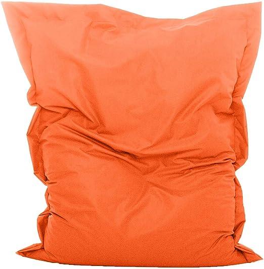 GlueckBean Pouf rectangulaire de qualité supérieure pour intérieur et  extérieur avec rembourrage en billes de polystyrène Idéal pour la chambre  ...