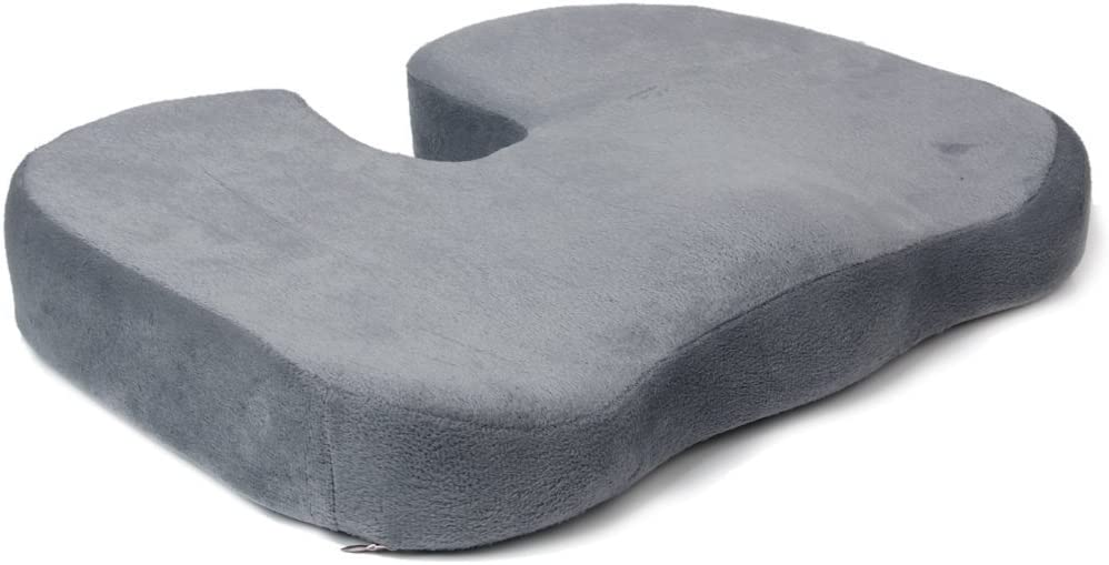 Lookout Ultra comodidad para el coxis Ortopédica silla asiento cojín oficina en casa (gris)