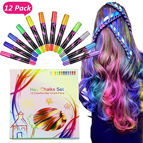 Buluri Hair Chalk 12 Color Temporary Hair Chalk