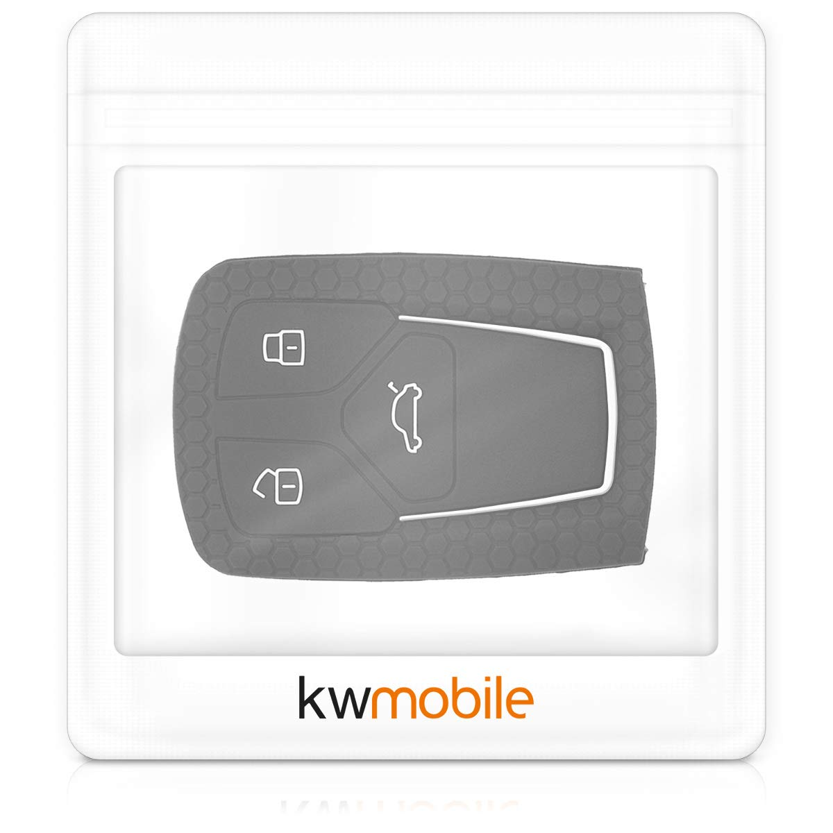 kwmobile Cover Chiave Auto per Audi Solo Keyless Go Protezione in Silicone Custodia per Chiave Audi con 3 Tasti Smart Key Guscio Protettivo coprichiave
