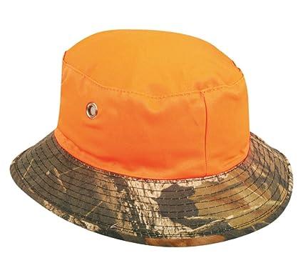 2a33323adb Mossy Oak Break Up  Blaze Orange Reversible Boonie Bucket Style Hunting  Outdoor Hat   Cap