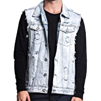 Howme-Men Retro Style Distressed Rugged Wear Cowboy Waistcoat