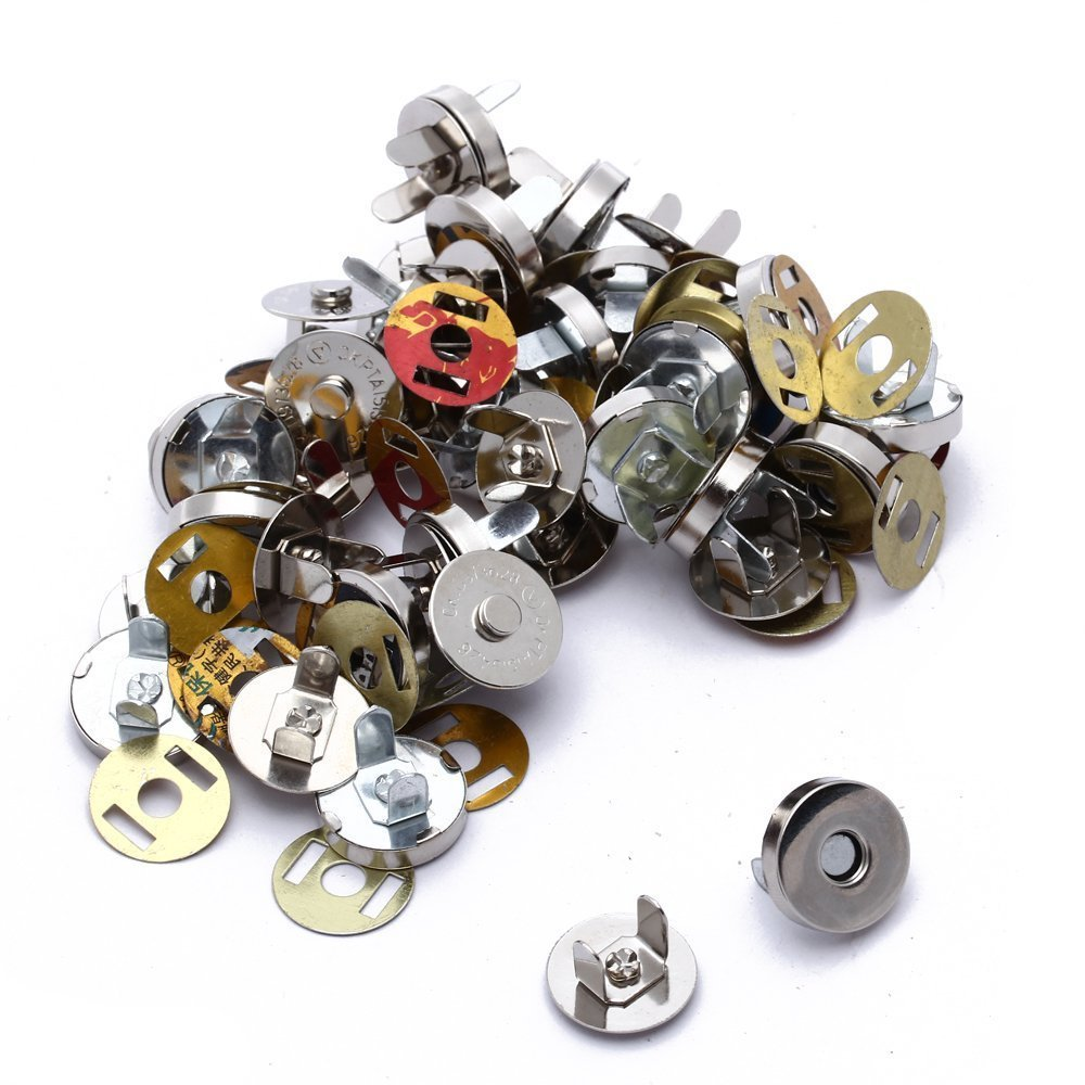 R 20x Silver Magnetic Clasps Snaps Buttons for Purses Handbag Bag Sewing Craft TOOGOO