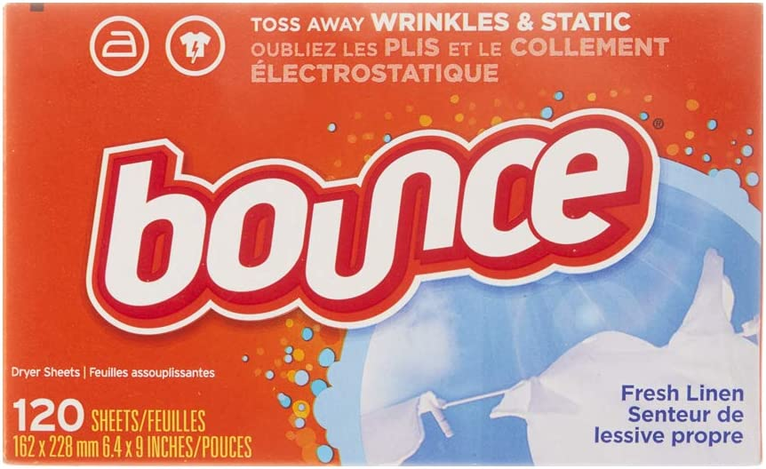 Bounce Fresh Linen Scented Fabric Softener Dryer Sheets, 120 Count