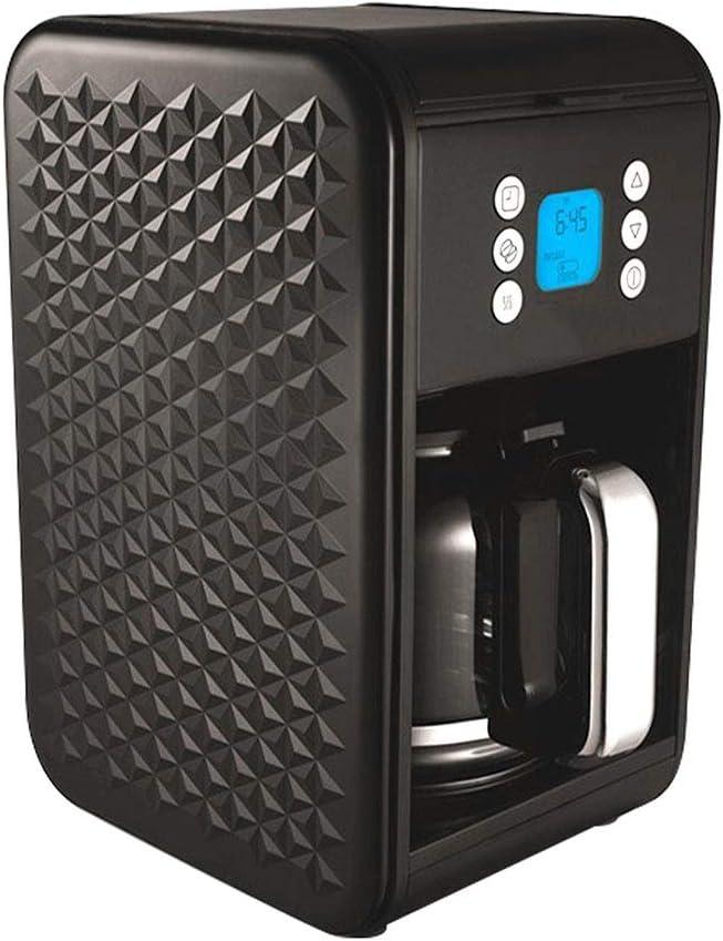 LLCX Máquina de café con Filtro Coffee On The Go Máquina para Hacer café expreso Multifuncional Máquina de café Invertida Vector Máquina de café Negra y de Acero Inoxidable Cepillado,Black