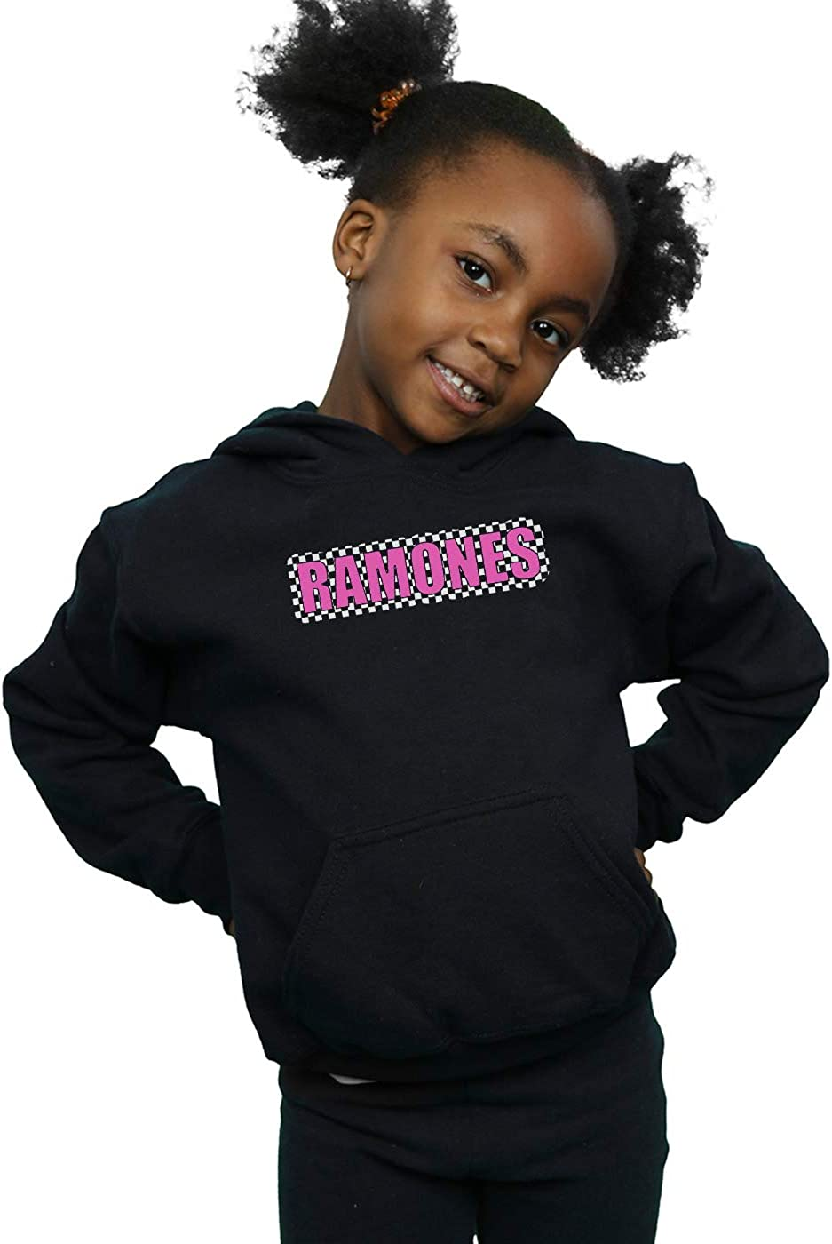 ABSOLUTECULT Ramones Girls Checked Logo Hoodie