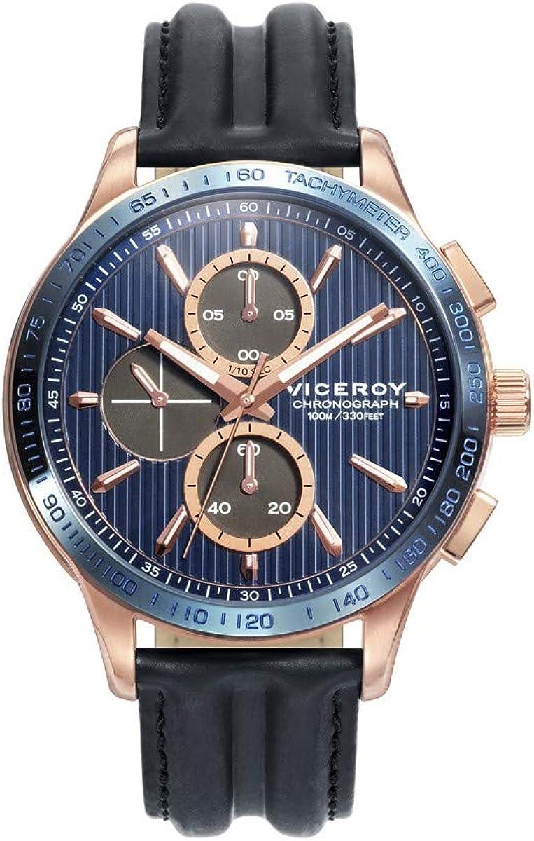 Reloj Viceroy Hombre Heat Crono Azul-Rosado 471177-37