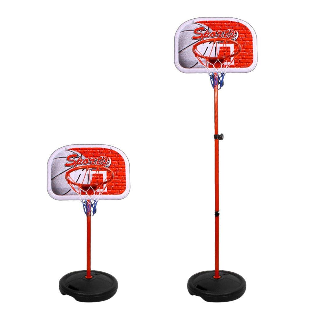 Baloncesto Stands Juguetes, lommer 50–147cm/19.68–57.87en los niños Baloncesto Deporte portátil tablero baloncesto soporte 4-Section altura ajustable con inflador