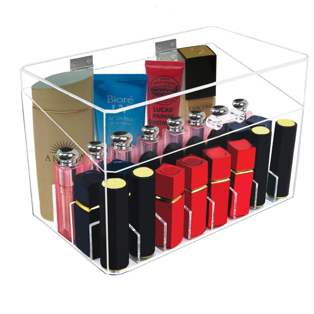 Tasybox Lipstick Organizer With Dustproof Lid 26 Spaces PS Lipgloss Holder Display Case Makeup Storage Box Beauty Container
