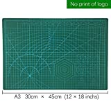 Cut pad Cutting mat Metric'' A3 Double Sided Self Healing 5 Layers Cutting Mat,PVC Cutting Mat Great for Scrapbooking,Sewing Quilting, and All Arts & Crafts Projects 12'' x 18'',30cm x 45cm, Green