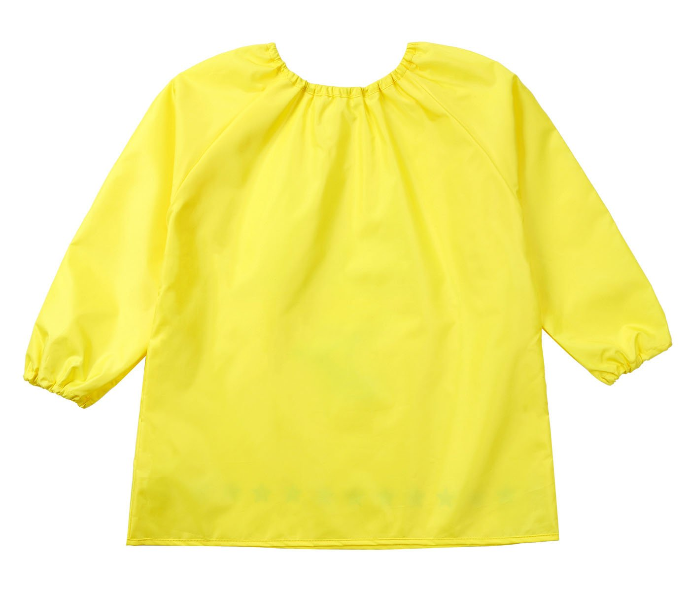Children's Art Smock Pullover Sleeve Drawing Apron with Packet Plane Pringting Toddler Baby Waterproof Bib Painting with Pockect Yellow 2-4 T DAWNTUNG
