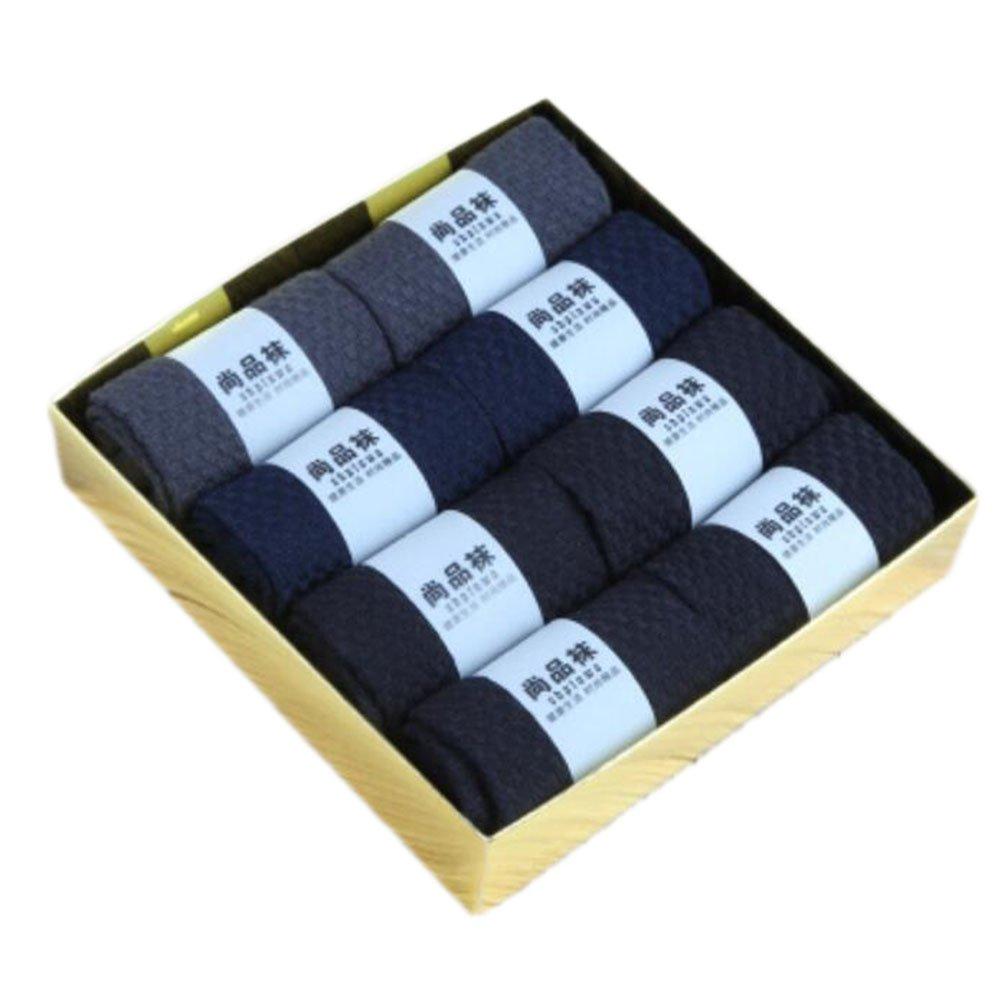 8 Pairs Men Socks Bamboo Fiber Soft Anti-sweat Antibacterial Fall Winter Socks Decent Gift-A06 George Jimmy