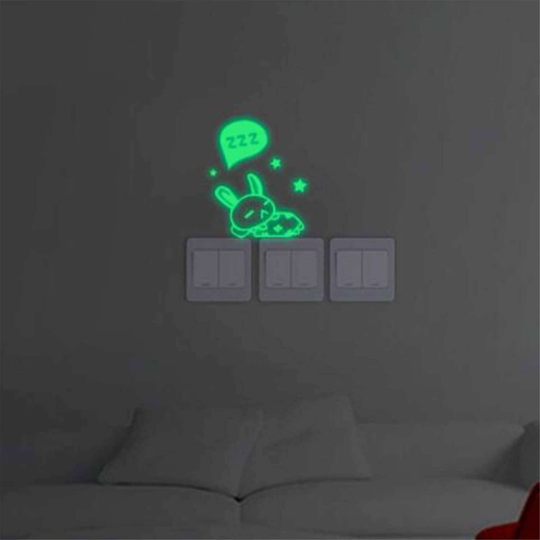 LJJYD Dark Stickers Luminous Stickers Self-adhesive Switch Sticker Rabbit Sticker