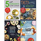 Books : Tasty Ultimate Cookbook [hardcover], Tasty Latest and Greatest [hardcover], Tasty & Healthy, 5 Simple Ingredients Slow Cooker 4 Books Collection Set