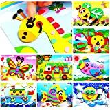J&C 20pcs 3D EVA Foam Sticker Puzzle Game DIY Cartoon Animal Learning Education Toys for Toddler Kids Art Craft Kits…