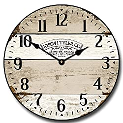 Vintage Barnwood Wall Clock, Available in 8 sizes, Most Sizes Ship 2 - 3 days, Whisper Quiet.