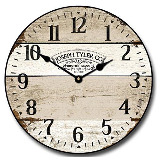 white vintage wall clock - 2