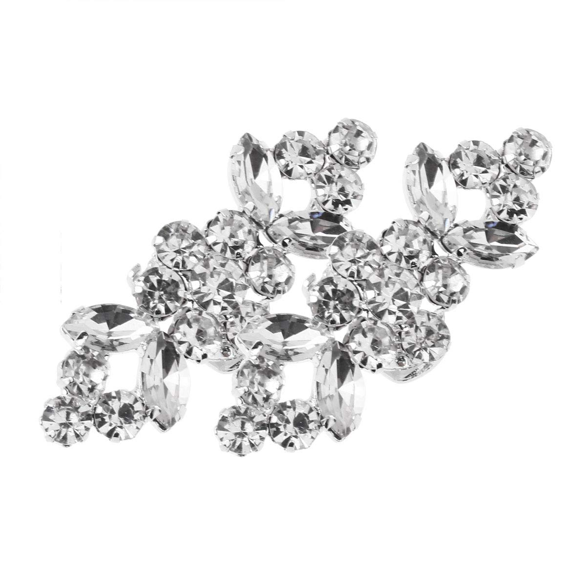 FEESHOW Elegant Rhinestone Crystal Metal Shoe Clips Wedding Party Pack Type A One Size