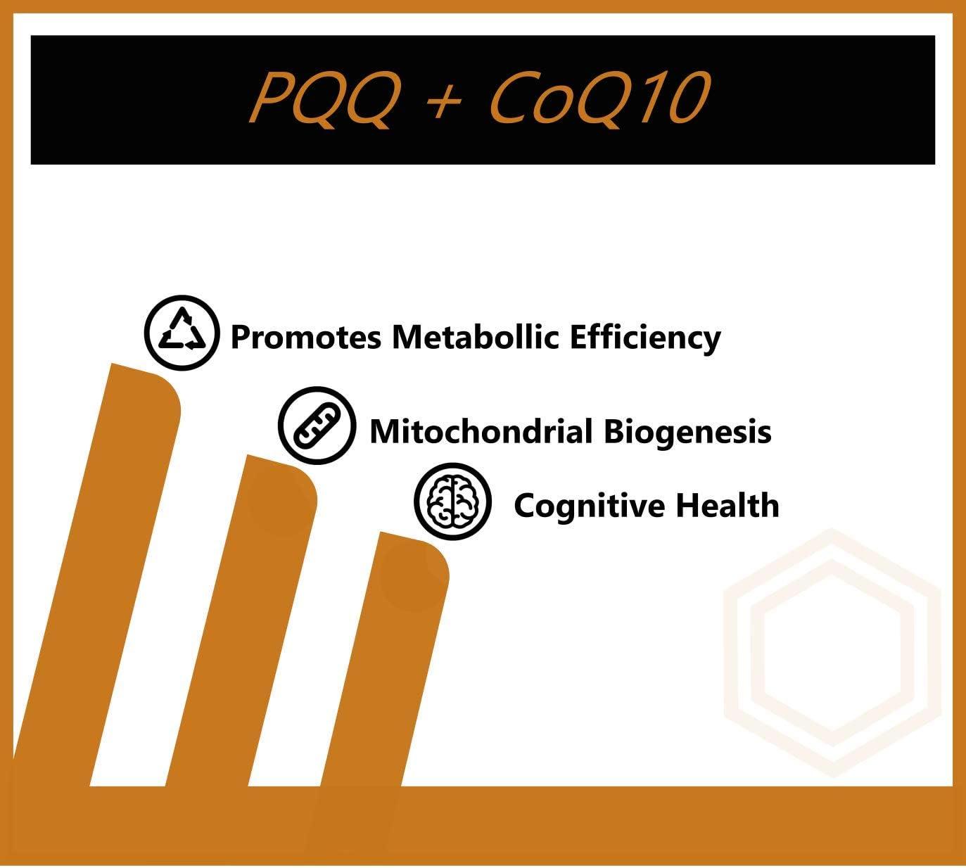 Flambeau Labs PQQ+CoQ10 | 30 Capsules, 200mg CoQ10, 20mg PQQ | Promotes Metabolic Efficiency, Mitochondrial Biogenesis, and Cognitive Health