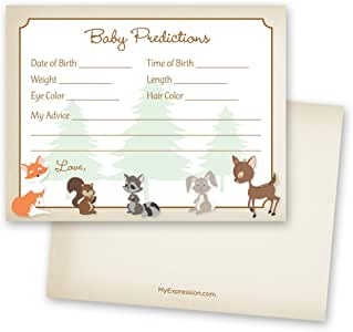 MyExpression.com 48 Cnt Woodland Animals Baby Prediction Cards
