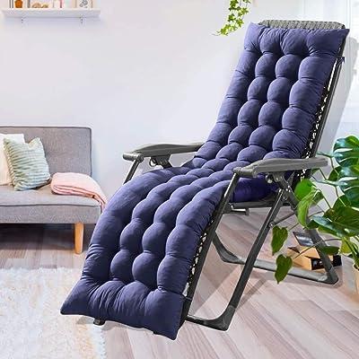61-inch Patio Chaise Lounger Cushion Indoor Outdoor Chaise Lounger Cushions Rocking Chair Sofa Cushion Window Seat Mattress : Garden & Outdoor