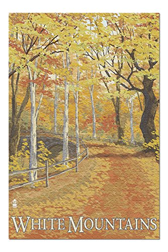 White Mountains, New Hampshire - Fall Colors (20x30 Premium 1000 Piece Jigsaw Puzzle, Made in USA!)