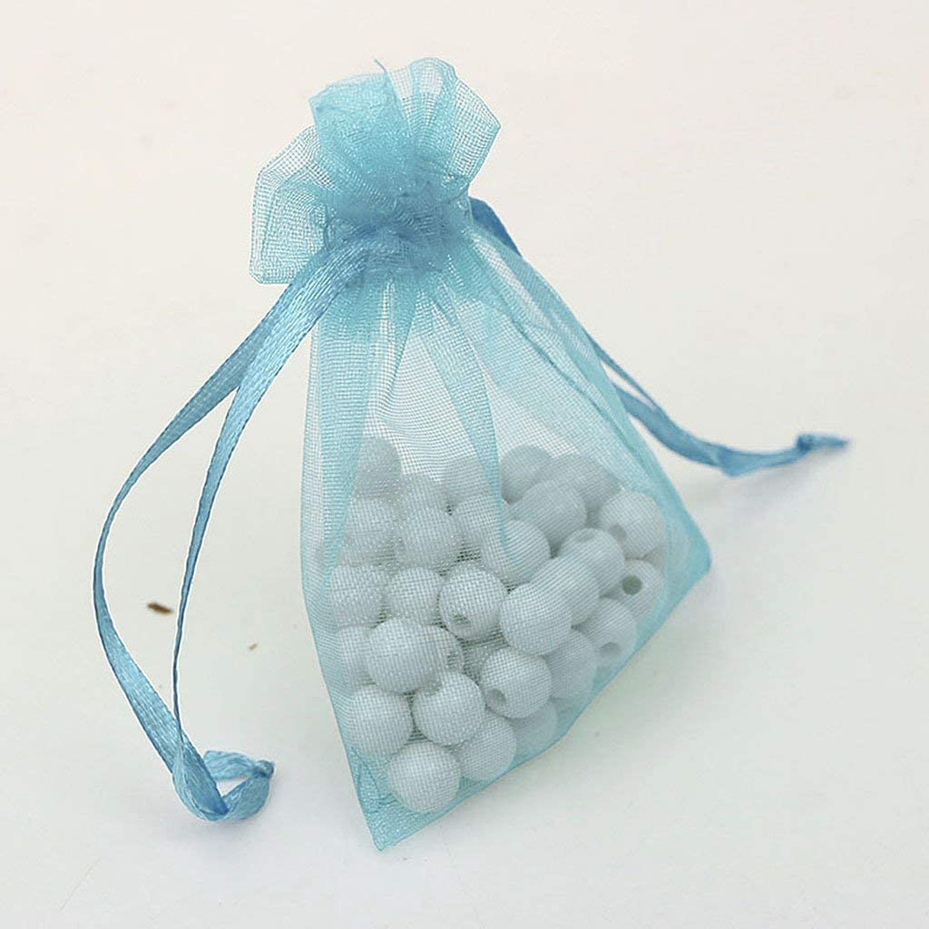 Inzopo 100pcs 7x9cm Organza Gift Bag Jewellery Bags Pouches Wedding Party Favours