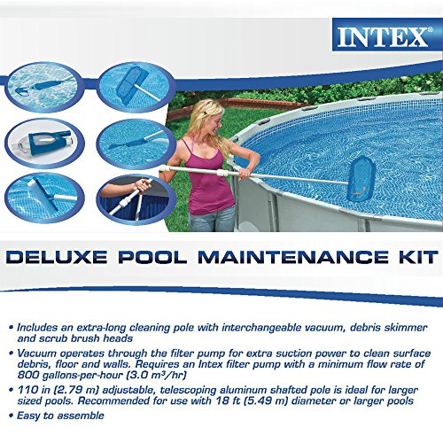 Intex deluxe pool maintenance kit for above ground pools for Pool maintenance
