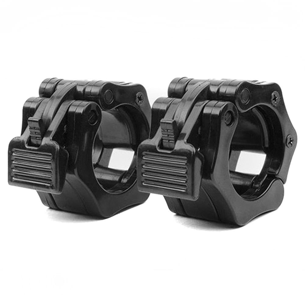 Workouty Pair of 2'' Olympic Barbell Collar Quick Release Barbell Clamp Lock Jaw for WeightLifting Crossfit Gym Exercise (Black)