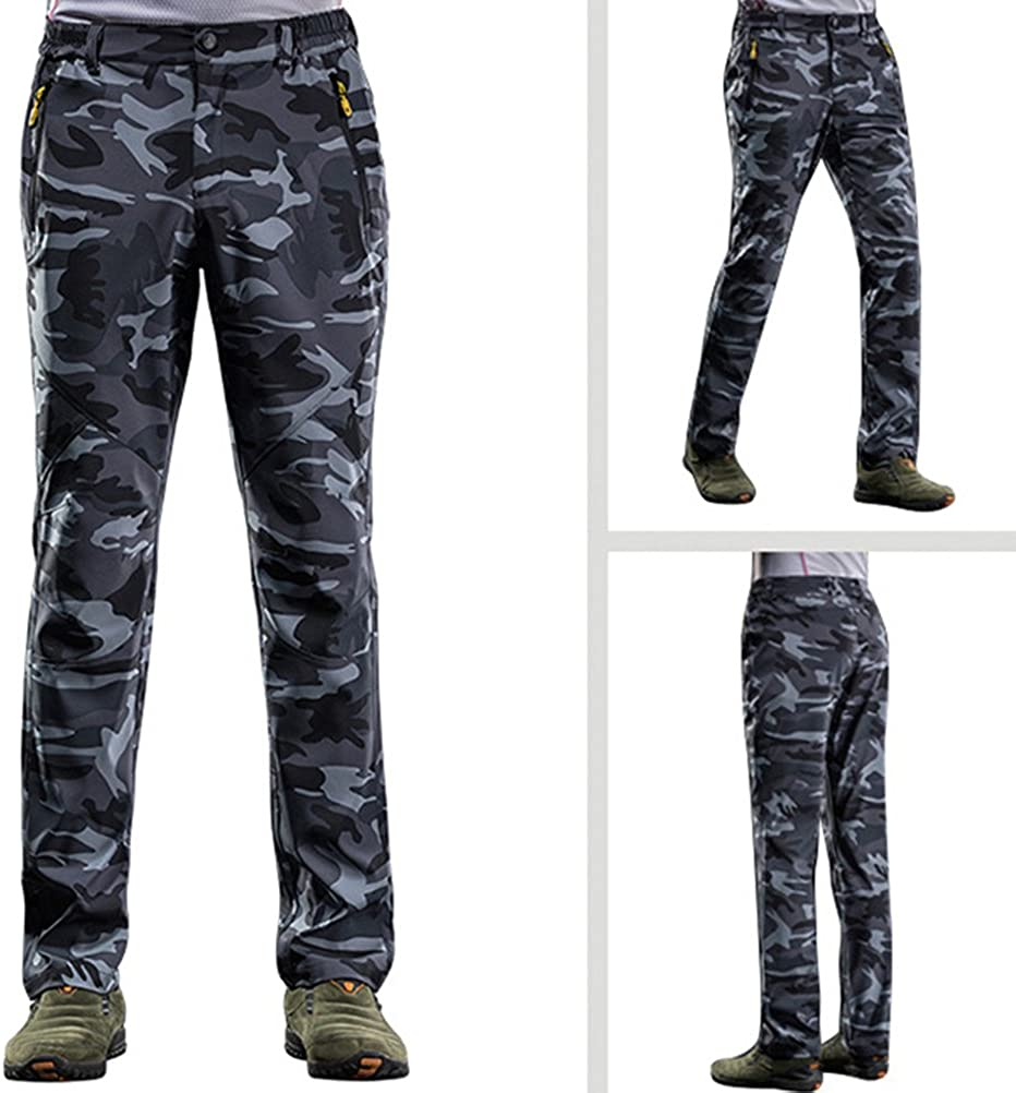 Zhuhaitf Mens Outdoor Sports Trousers Quick Dry Breathable Camouflage Trousers