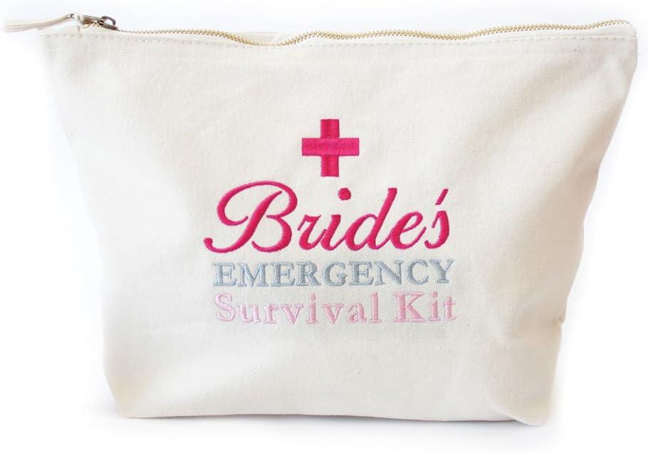 Bolsa de emergencia Kit de supervivencia de la novia, boda Día Bolsa, listo para ser relleno con boda Día Essentials