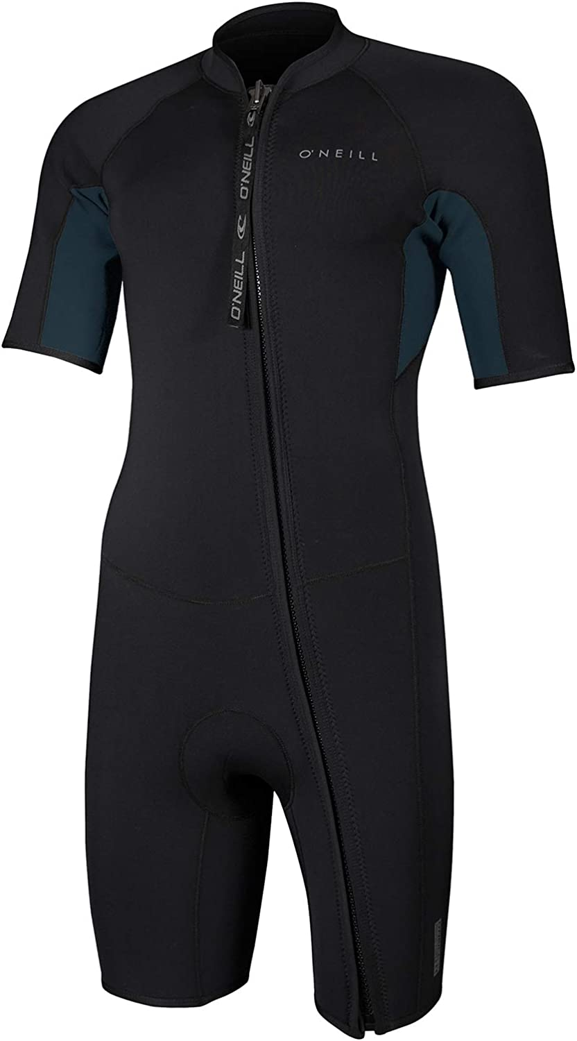 O'NEILL Reactor-2 Mens Front Zip Shorty 3mm Neoprene Spring Wetsuit