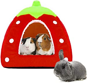 Spring Fever Hamster Guinea Pig Rabbit Dog Cat Chinchilla Hedgehog Bird Small Animal Pet Bed House Hideout Cage Accessorie B Red M