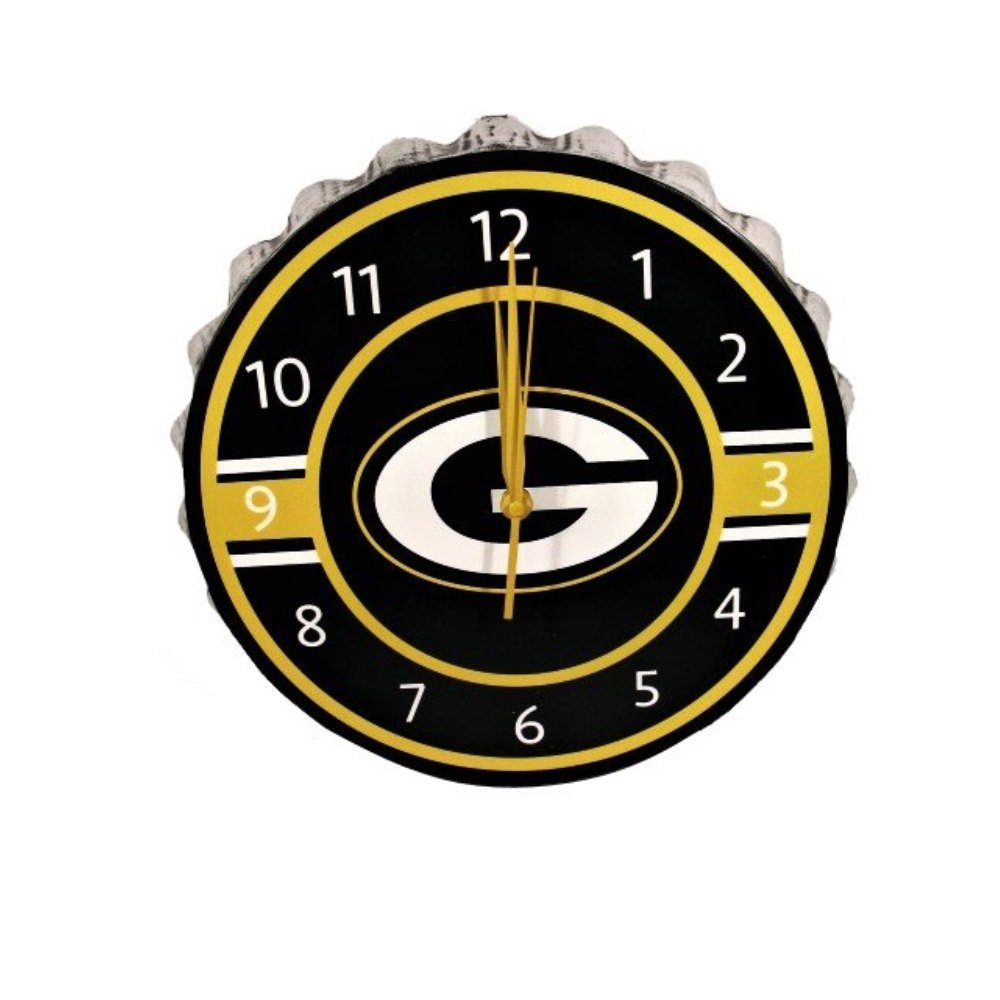 Green Bay Packers Bottlecap Clock by FOCO