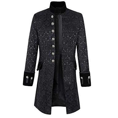 Youthny Herren Mantel Jacke Lang Gothic Steampunk Farbwahl